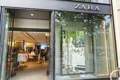 zara store in hangzhou editorial image image of urban 40226590. Black Bedroom Furniture Sets. Home Design Ideas