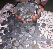 Zarabia online pieniądze Obraz Stock