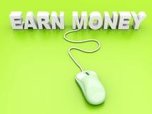 Zarabia Pieniądze ilustracji