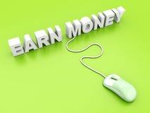 Zarabiamy Pieniądze ilustracja wektor