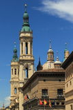 Zaragoza architecture Royalty Free Stock Photo