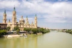 Zaragoza Basilica Cathedral Spain Stock Photos