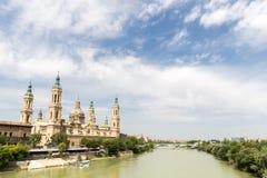 Zaragoza Basilica Cathedral Spain Stock Image