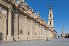 Zaragoza Basilica in Spain Royalty Free Stock Photos