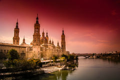 Zaragoza Cathedral Stock Photos
