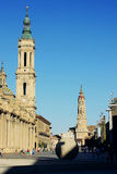 Zaragoza Cathedral Royalty Free Stock Images