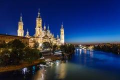 Zaragoza in de zomer, Spanje, Aragon Royalty-vrije Stock Fotografie