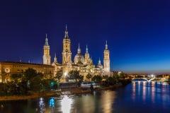 Zaragoza in de zomer, Spanje, Aragon Royalty-vrije Stock Foto's