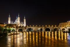 Zaragoza in de zomer, Spanje, Aragon Stock Afbeeldingen