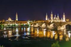 Zaragoza in de zomer, Spanje, Aragon Stock Fotografie