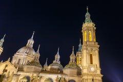 Zaragoza in de zomer, Spanje, Aragon Stock Afbeelding