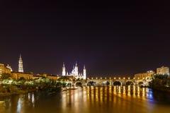 Zaragoza in de zomer, Spanje, Aragon Royalty-vrije Stock Afbeelding