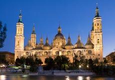 Zaragoza domkyrka Arkivfoto