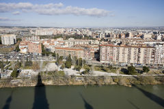 Zaragoza from el pilar bell tower Stock Images
