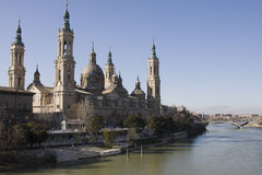 Zaragoza from el pilar bell tower Stock Photo