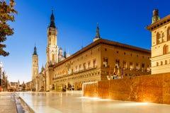 Zaragoza en verano, España, Aragón Imagen de archivo