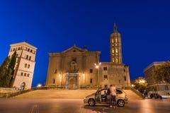ZARAGOZA, ESPAÑA - 27 DE SEPTIEMBRE DE 2017: Iglesia de Iglesia de San Juan de los Panetes Copie el espacio para el texto foto de archivo