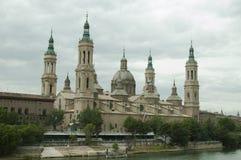 Zaragoza, famouse old church Royalty Free Stock Photography