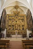 ZARAGOZA HISZPANIA, MARZEC, - 3, 2018: Rzeźbiący główny ołtarz w kościelnym Iglesia De San Pablo Damian Forment 151, 1535 - zdjęcia stock