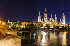Zaragoza i sommar, Spanien, Aragon Fotografering för Bildbyråer