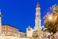 Zaragoza i sommar, Spanien, Aragon Arkivfoto