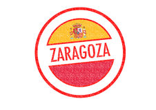 ZARAGOZA. Passport-style ZARAGOZA rubber stamp over a white background Royalty Free Stock Images