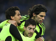 Zaragoza players celebrating goal Stock Image