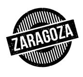 Zaragoza rubber stamp. Grunge design with dust scratches. Effects can be easily removed for a clean, crisp look. Color is easily changed Royalty Free Stock Images