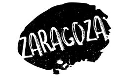 Zaragoza rubber stamp. Grunge design with dust scratches. Effects can be easily removed for a clean, crisp look. Color is easily changed Stock Photos