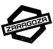 Zaragoza rubber stamp. Grunge design with dust scratches. Effects can be easily removed for a clean, crisp look. Color is easily changed Stock Photography