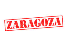 ZARAGOZA. Rubber Stamp over a white background Royalty Free Stock Photo