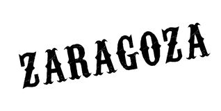 Zaragoza rubber stamp. Grunge design with dust scratches. Effects can be easily removed for a clean, crisp look. Color is easily changed Stock Images