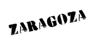 Zaragoza rubber stamp. Grunge design with dust scratches. Effects can be easily removed for a clean, crisp look. Color is easily changed Royalty Free Stock Photo
