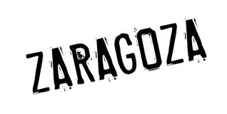 Zaragoza rubber stamp. Grunge design with dust scratches. Effects can be easily removed for a clean, crisp look. Color is easily changed Royalty Free Stock Photos