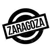 Zaragoza rubber stamp. Grunge design with dust scratches. Effects can be easily removed for a clean, crisp look. Color is easily changed Royalty Free Stock Image
