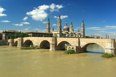 Zaragoza scenery Royalty Free Stock Image