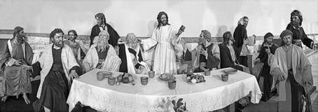 ZARAGOZA, SPAIN, 2018: The sculptural group of Last Supper in church Iglesia del Perpetuo Socorro by José Antonio N. Arteaga. ZARAGOZA, SPAIN - MARCH 1, 2018 Stock Images