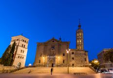 ZARAGOZA, SPAIN - SEPTEMBER 27, 2017: Church of Iglesia de San Juan de los Panetes. Copy space for text. royalty free stock images