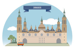 Zaragoza. Spain. For you design Stock Photography