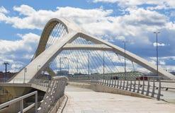 Zaragoza - Trzeci milenium most - Puente Del Tercer Milenio obraz royalty free