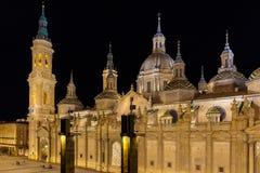 Zaragoza w lecie, Hiszpania, Aragon Zdjęcie Stock