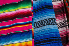 Zarapes messicani variopinti Immagini Stock Libere da Diritti