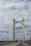 Zarate Brazo缓慢地桥梁, Entre里奥斯,阿根廷 库存照片