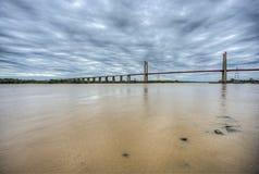 Zarate Brazo缓慢地桥梁, Entre里奥斯,阿根廷 库存图片