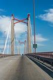 Zarate Brazo缓慢地桥梁, Entre里奥斯,阿根廷 免版税库存照片
