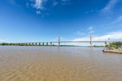 Zarate Brazo缓慢地桥梁, Entre里奥斯,阿根廷 图库摄影