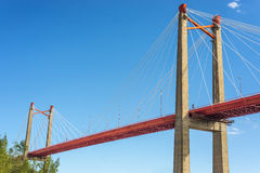 Zarate Brazo Largo Bridge, Entre Rios, Argentina Royalty Free Stock Image