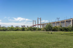 Zarate Brazo Largo Bridge, Entre Rios, Argentina Royalty Free Stock Images