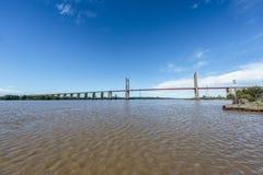 Zarate Brazo Largo Bridge, Entre Rios, Argentina Royalty Free Stock Photos