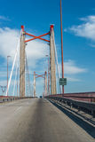 Zarate Brazo Largo Bridge, Entre Rios, Argentina. The Zarate Brazo Largo Bridges are two cable-stayed road and railway bridges in Argentina, crossing the Parana Royalty Free Stock Photo